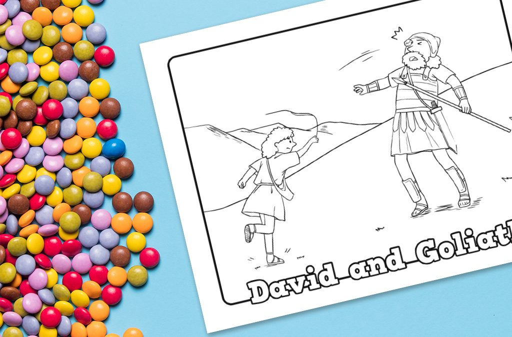 'David and Goliath' Coloring Sheet Printable