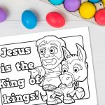 'King of kings' Printable Coloring Sheet
