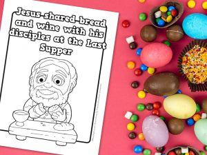 'Jesus at the Last Supper' Printable Coloring Sheet