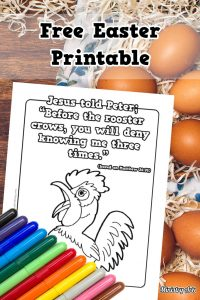 Free Rooster Crows Easter Printable