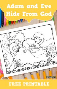 'Adam and Eve Hide From God' Printable Coloring Sheet
