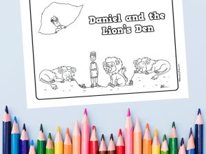 'Daniel and the Lions Den' Printable