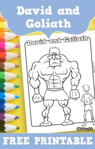 image about David and Goliath Printable Story identify David and Goliath Printable Coloring Sheet MinistryArk