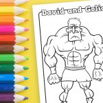 'David and Goliath' Printable Coloring Sheet