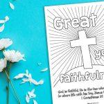 'Great is Your Faithfulness' Printable (1 Corinthians 1:9)