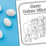 'Jesus Before Pilate' Printable Coloring Page