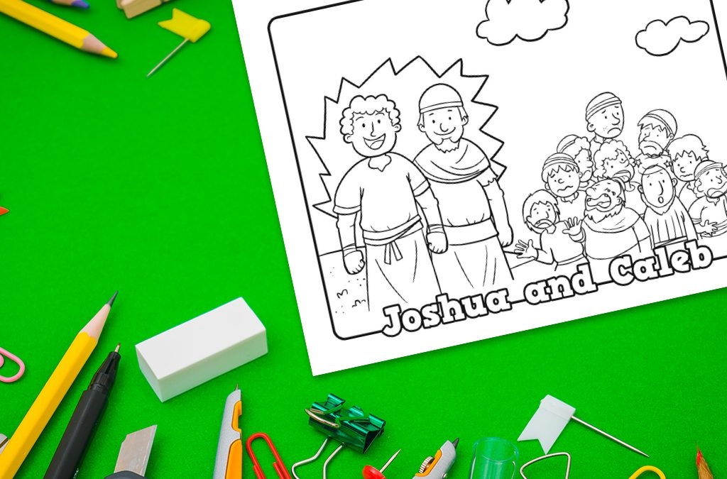 Joshua and Caleb' Printable Coloring Sheet • MinistryArk