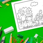 'Joshua and Caleb' Printable Coloring Sheet
