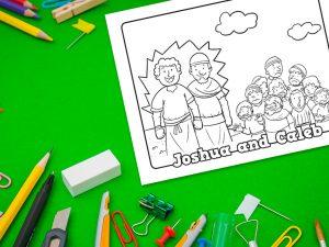 'Joshua and Caleb' Printable Coloring Sheet