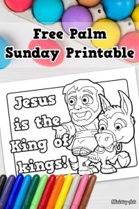 King of Kings Printable Palm Sunday Coloring Sheet