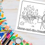 'Moses and the Burning Bush' Printable Coloring Sheet