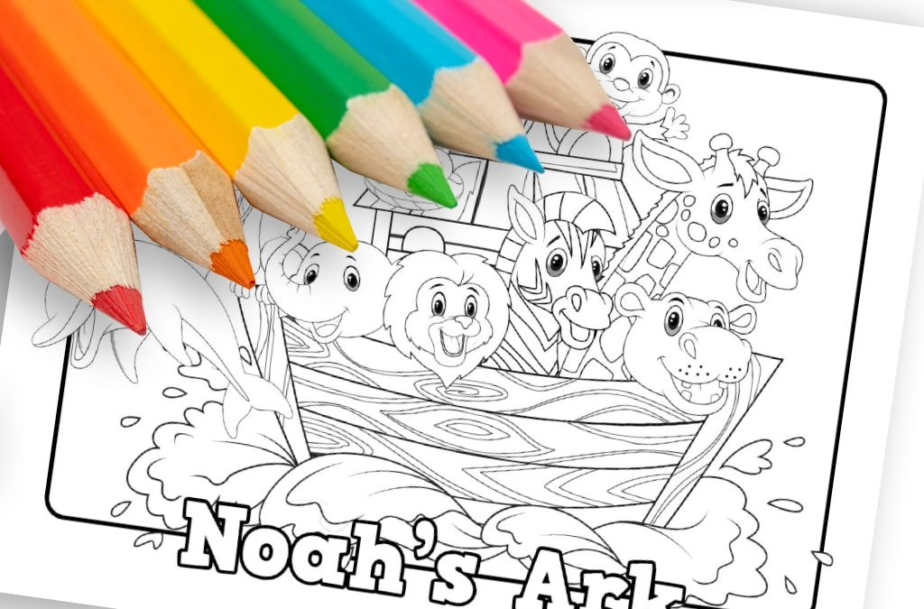 Noahs Ark\' Printable Coloring Sheet • MinistryArk