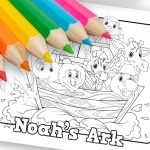 'Noahs Ark' Printable Coloring Sheet