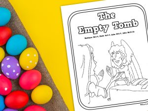 'The Empty Tomb' Printable Coloring Page