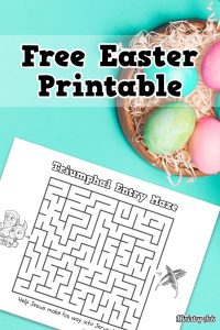 Triumphal Entry Maze Activity Sheet