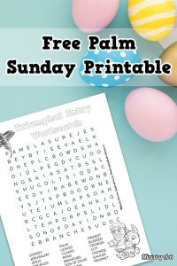 Free Palm Sunday Printable