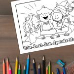 'The Son Spends Money' Printable Coloring Sheet
