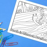 'Jonah is Thrown' Bible Story Printable