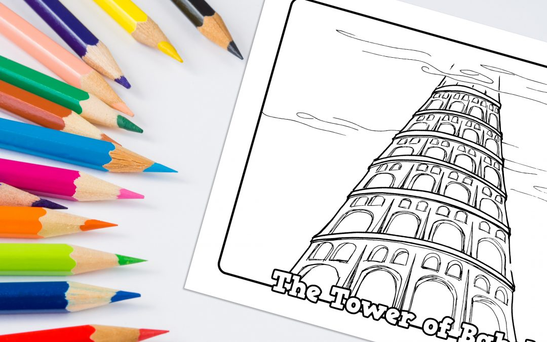 'Tower of Babel' Bible Story Printable