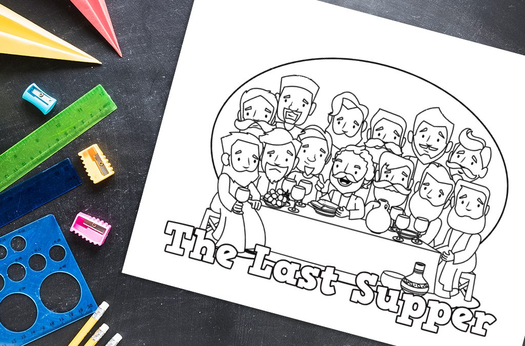 'Last Supper' Bible Story Printable