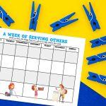 'Week of Serving' Printable