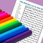 Pharisee and Tax Collector Wordsearch for 8-11yr olds