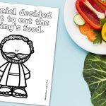 'Daniel Decided' Coloring Sheet