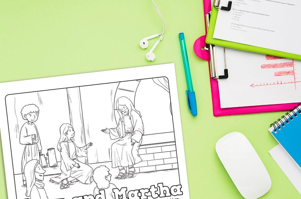 'Mary and Martha – Jesus Teaches Mary' Printable