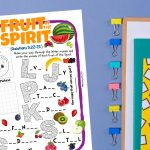 'Fruit of the Spirit' Printable Puzzle Sheet