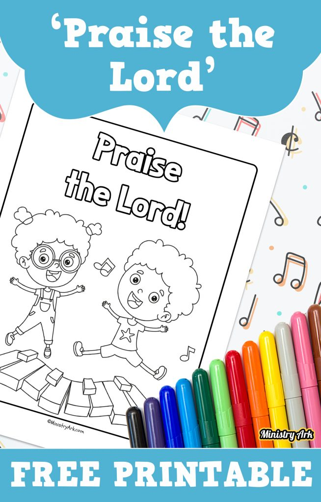 'Praise the Lord' Coloring Sheet Printable