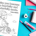'Fearfully and Wonderfully Made' Bible Verse Printable