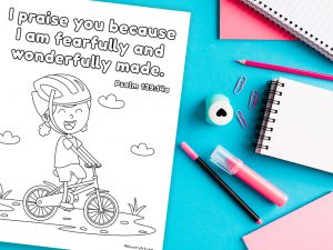 Fearfully and Wonderfully Made Coloring Sheet