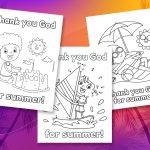 'Thank You God for Summer' Printables